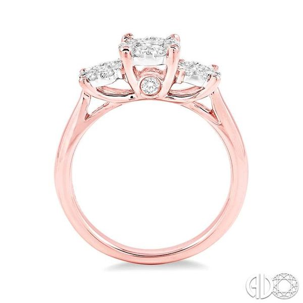 1/2 Ctw Lovebright Round Cut Diamond Ring in 14K Rose and White Gold Image 3 Ross Elliott Jewelers Terre Haute, IN