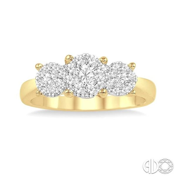 1/2 Ctw Lovebright Round Cut Diamond Ring in 14K Yellow and White Gold Image 2 Ross Elliott Jewelers Terre Haute, IN