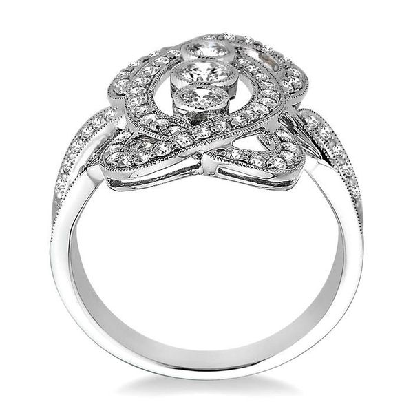 1 Ctw Round Cut Diamond Fashion Ring in 14K White Gold Image 3 Ross Elliott Jewelers Terre Haute, IN