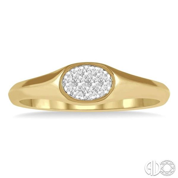 1/8 ctw Oval Shape Lovebright Diamond Ring in 14K Yellow And White Gold Image 2 Ross Elliott Jewelers Terre Haute, IN