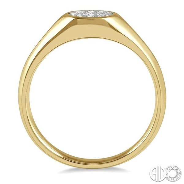 1/8 ctw Oval Shape Lovebright Diamond Ring in 14K Yellow And White Gold Image 3 Ross Elliott Jewelers Terre Haute, IN