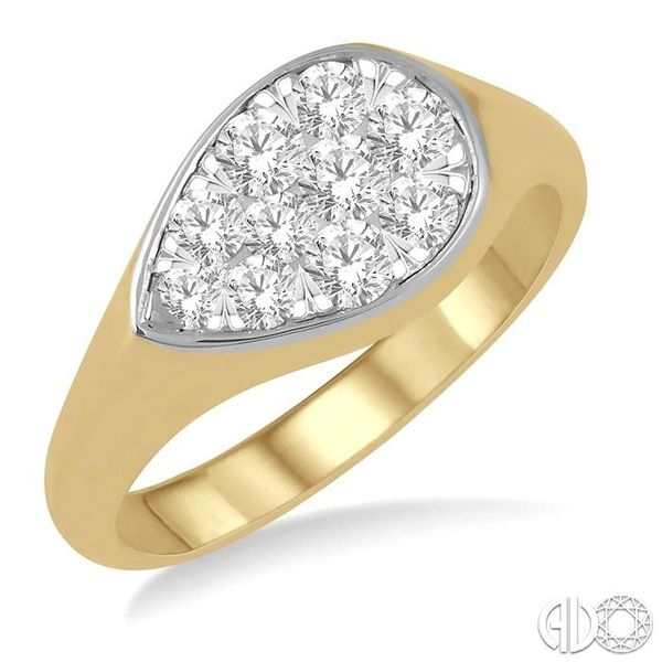 1/2 ctw Pear Shape Lovebright Diamond Ring in 14K Yellow and White Gold Ross Elliott Jewelers Terre Haute, IN