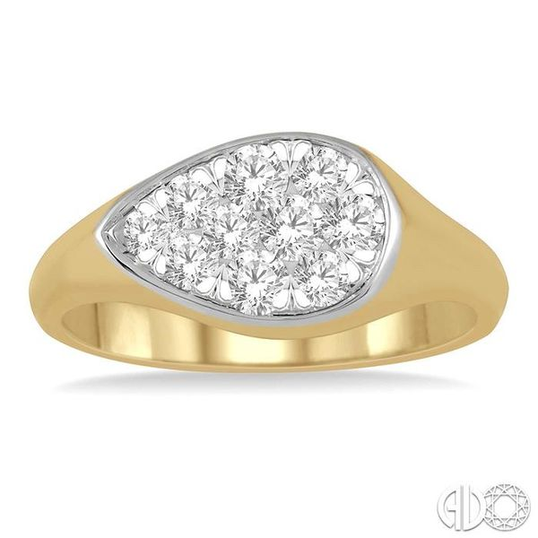 1/2 ctw Pear Shape Lovebright Diamond Ring in 14K Yellow and White Gold Image 2 Ross Elliott Jewelers Terre Haute, IN