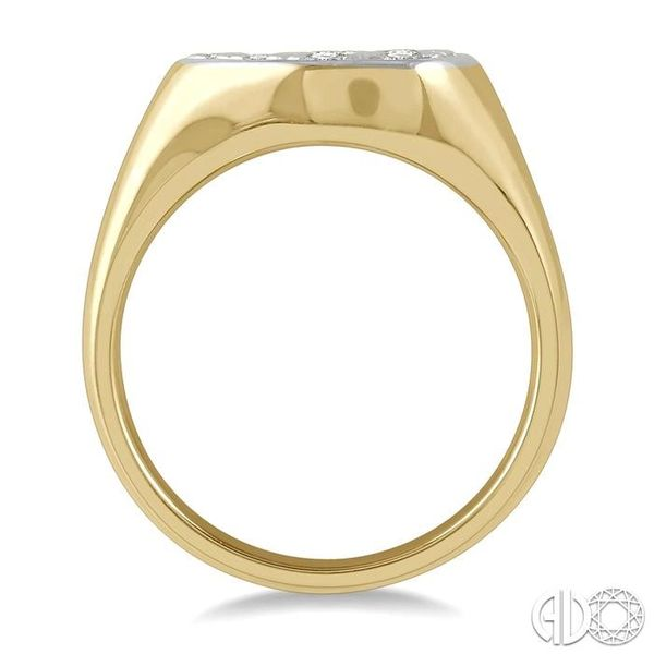 1/2 ctw Pear Shape Lovebright Diamond Ring in 14K Yellow and White Gold Image 3 Ross Elliott Jewelers Terre Haute, IN