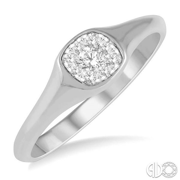 1/6 ctw Cushion Shape Lovebright Diamond Ring in 14K White Gold Ross Elliott Jewelers Terre Haute, IN