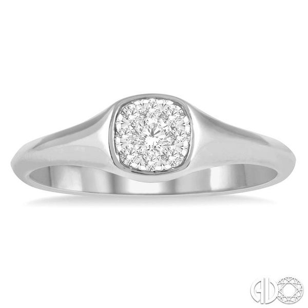 1/6 ctw Cushion Shape Lovebright Diamond Ring in 14K White Gold Image 2 Ross Elliott Jewelers Terre Haute, IN