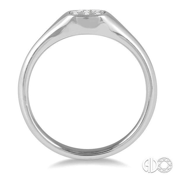 1/6 ctw Cushion Shape Lovebright Diamond Ring in 14K White Gold Image 3 Ross Elliott Jewelers Terre Haute, IN