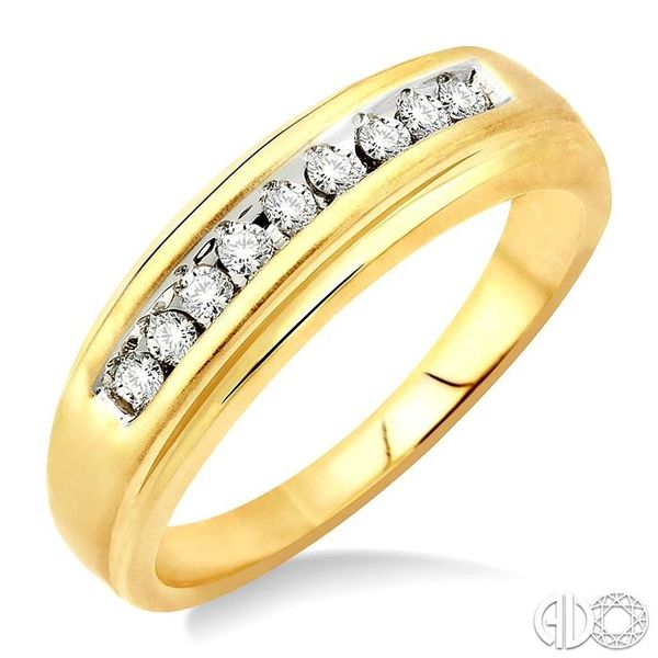 1/6 Ctw Round Diamond Men's Duo Ring in 14K Yellow Gold Ross Elliott Jewelers Terre Haute, IN