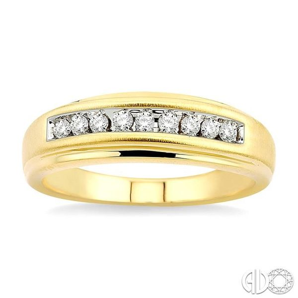 1/6 Ctw Round Diamond Men's Duo Ring in 14K Yellow Gold Image 2 Ross Elliott Jewelers Terre Haute, IN