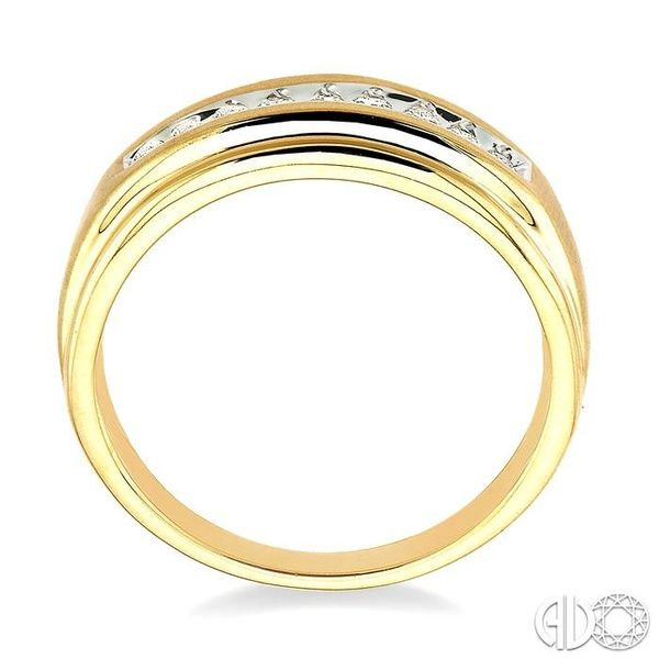 1/6 Ctw Round Diamond Men's Duo Ring in 14K Yellow Gold Image 3 Ross Elliott Jewelers Terre Haute, IN