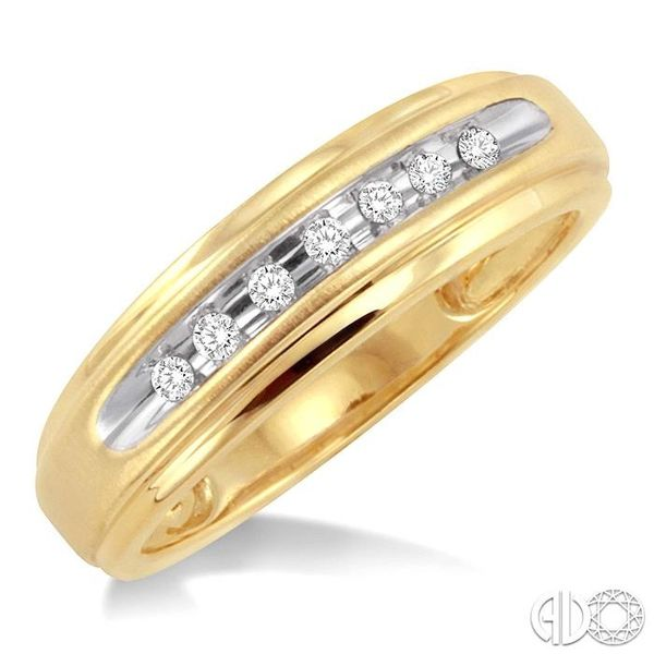 1/20 Ctw Round Cut Diamond Ladies Duo Ring in 14K Yellow Gold Ross Elliott Jewelers Terre Haute, IN