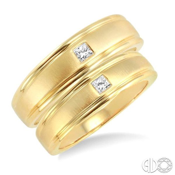 1/6 Ctw Princess Cut Diamond Duos Ring Set in 14K Yellow Gold Ross Elliott Jewelers Terre Haute, IN