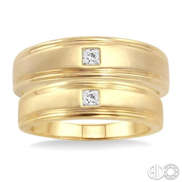 1/6 Ctw Princess Cut Diamond Duos Ring Set in 14K Yellow Gold Image 2 Ross Elliott Jewelers Terre Haute, IN