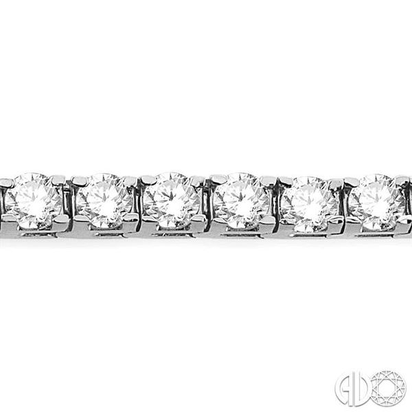 7 Ctw Square Shape Round Cut Diamond Tennis Bracelet in 14K White gold Image 3 Ross Elliott Jewelers Terre Haute, IN