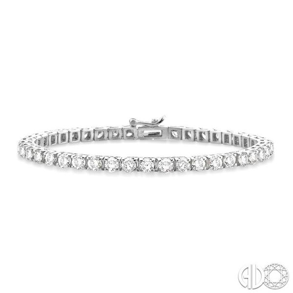7 Ctw Square Shape Round Cut Diamond Tennis Bracelet in 14K White gold Ross Elliott Jewelers Terre Haute, IN