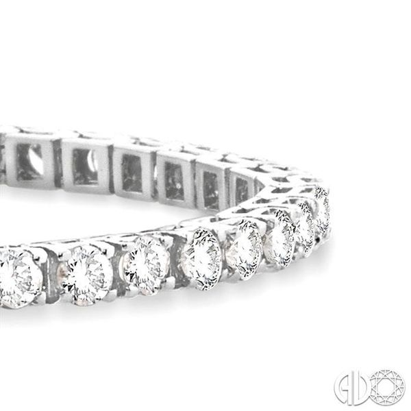 7 Ctw Square Shape Round Cut Diamond Tennis Bracelet in 14K White gold Image 2 Ross Elliott Jewelers Terre Haute, IN