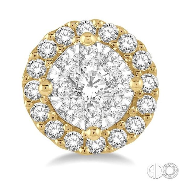 1/3 Ctw Lovebright Round Cut Diamond Stud Earrings in 14K Yellow and White Gold Image 2 Ross Elliott Jewelers Terre Haute, IN