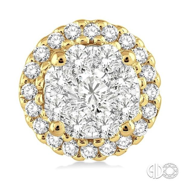 1 Ctw Lovebright Round Cut Diamond Earrings in 14K Yellow and White Gold Image 2 Ross Elliott Jewelers Terre Haute, IN