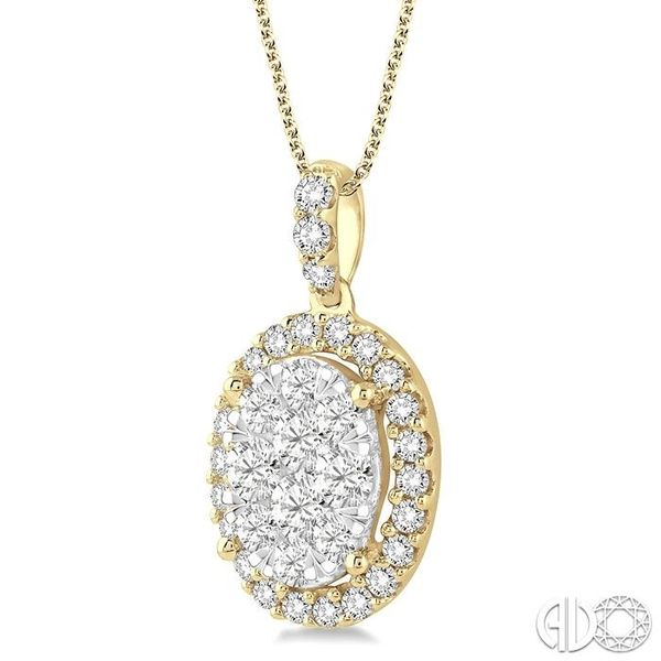 2 Ctw Oval Shape Diamond Lovebright Pendant in 14K Yellow Gold with Chain Image 2 Ross Elliott Jewelers Terre Haute, IN
