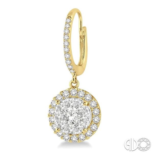 1 Ctw Round Cut Diamond Lovebright Earrings in 14K Yellow Gold Image 3 Ross Elliott Jewelers Terre Haute, IN