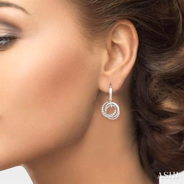 1 1/6 Ctw Round Cut Diamond Earrings in 14K White Gold Image 4 Ross Elliott Jewelers Terre Haute, IN