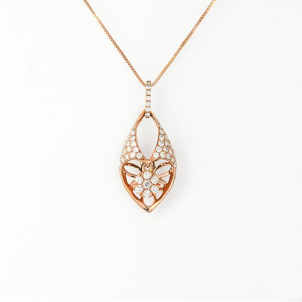 Rose Gold Diamond Necklace Score's Jewelers Anderson, SC