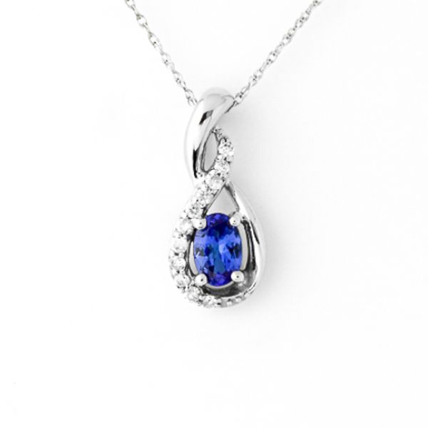Tanzanite and Diamond Necklace Score's Jewelers Anderson, SC