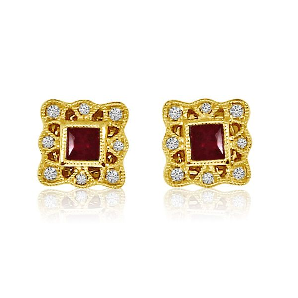Ruby and Diamond Earrings Score's Jewelers Anderson, SC