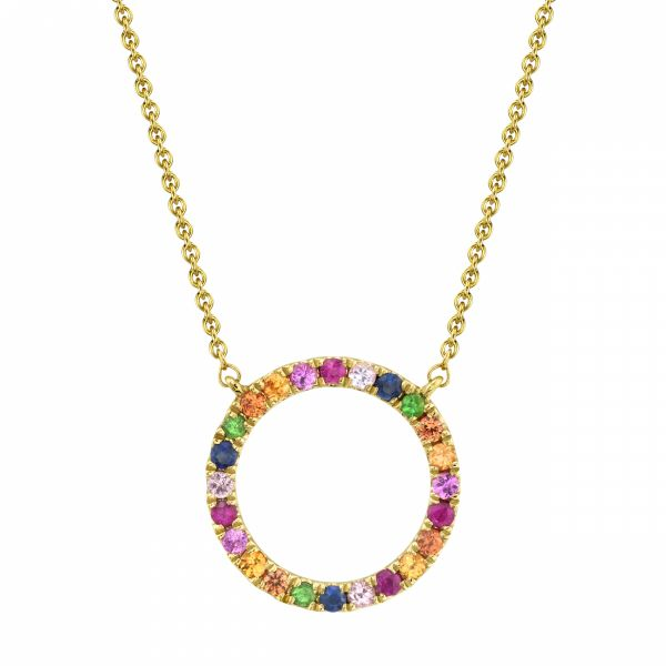 Multicolored Sapphire Necklace Score's Jewelers Anderson, SC