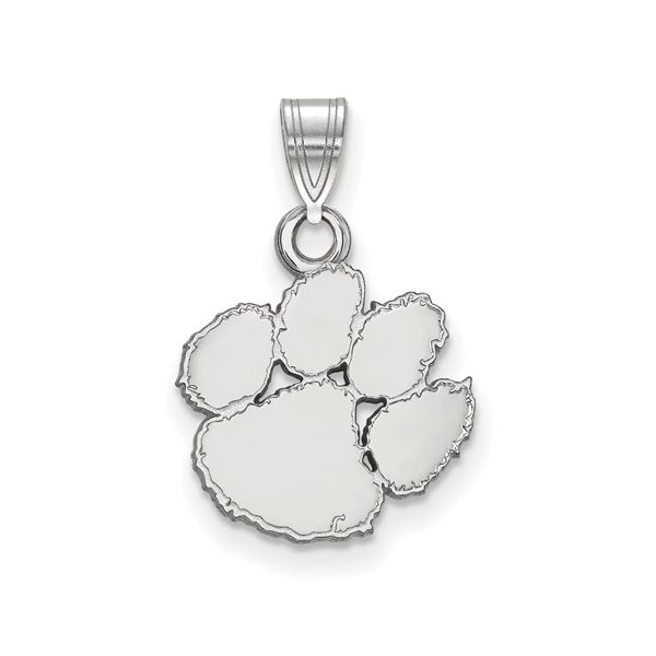 Sterling Silver Rhodium Plated Clemson University Small Pendant Score's Jewelers Anderson, SC