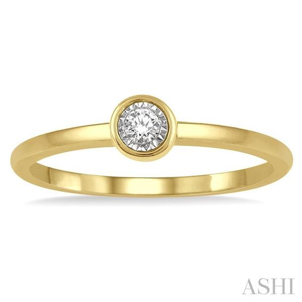 1/50 Ctw Round Cut Diamond Promise Ring in 10K Yellow Gold Image 2 Seita Jewelers Tarentum, PA