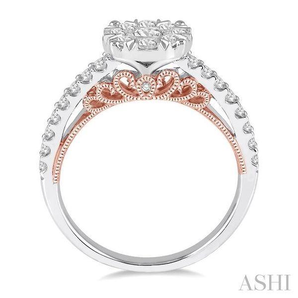1 Ctw Round Diamond Lovebright Vintage Solitaire Style Engagement Ring in 14K White and Rose Gold Image 3 Seita Jewelers Tarentum, PA