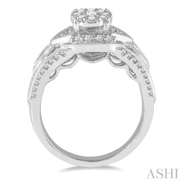 7/8 Ctw Round Diamond Lovebright Engagement Ring in 14K White Gold Image 3 Seita Jewelers Tarentum, PA