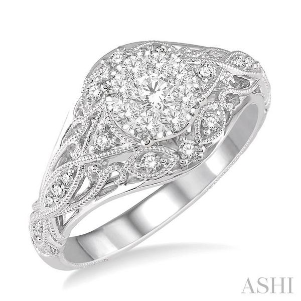 1/2 Ctw Lovebright Engagement Ring with Center Stone in 14K White Gold Seita Jewelers Tarentum, PA