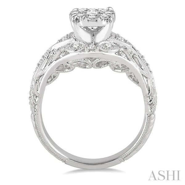 1/2 Ctw Lovebright Engagement Ring with Center Stone in 14K White Gold Image 3 Seita Jewelers Tarentum, PA
