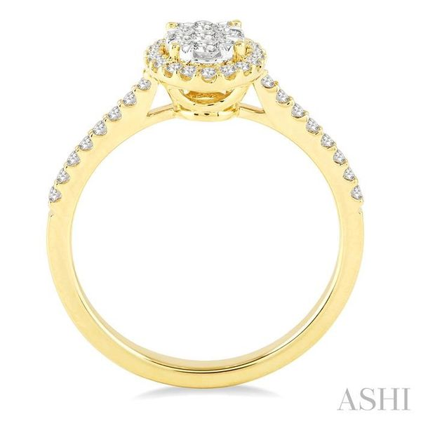 1/2 Ctw Oval Shape Diamond Lovebright Ring in 14K Yellow and White Gold Image 3 Seita Jewelers Tarentum, PA