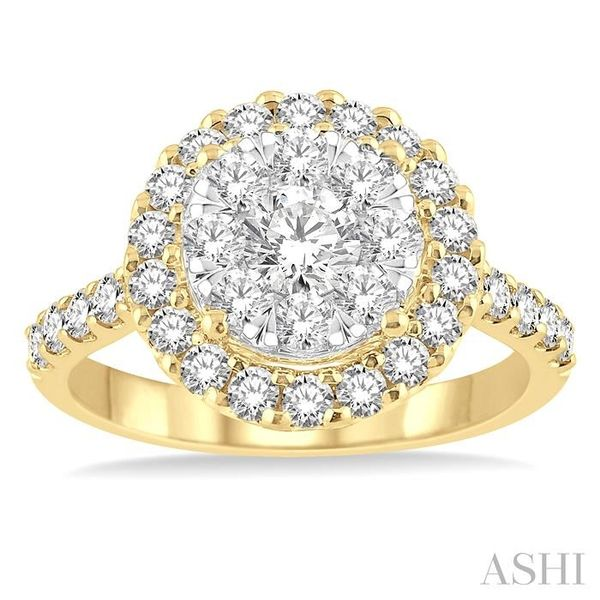 1 1/2 Ctw Round Shape Diamond Lovebright Ring in 14K Yellow Gold Image 2 Seita Jewelers Tarentum, PA
