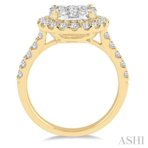 1 1/2 Ctw Round Shape Diamond Lovebright Ring in 14K Yellow Gold Image 3 Seita Jewelers Tarentum, PA