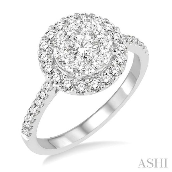 1 Ctw Round Shape Diamond Lovebright Ring in 14K White Gold Seita Jewelers Tarentum, PA