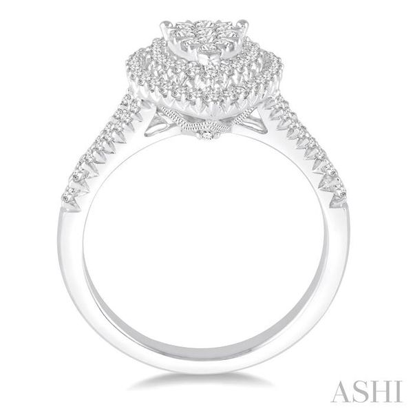 3/4 Ctw Pear shape Diamond Lovebright Diamond Ring in 14K White Gold Image 3 Seita Jewelers Tarentum, PA