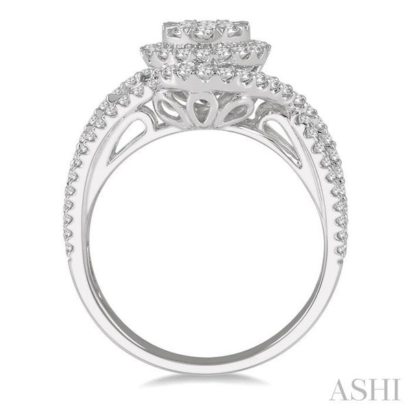 1 1/10 Ctw Round Cut Diamond Lovebright Engagement Ring in 14K White Gold Image 3 Seita Jewelers Tarentum, PA
