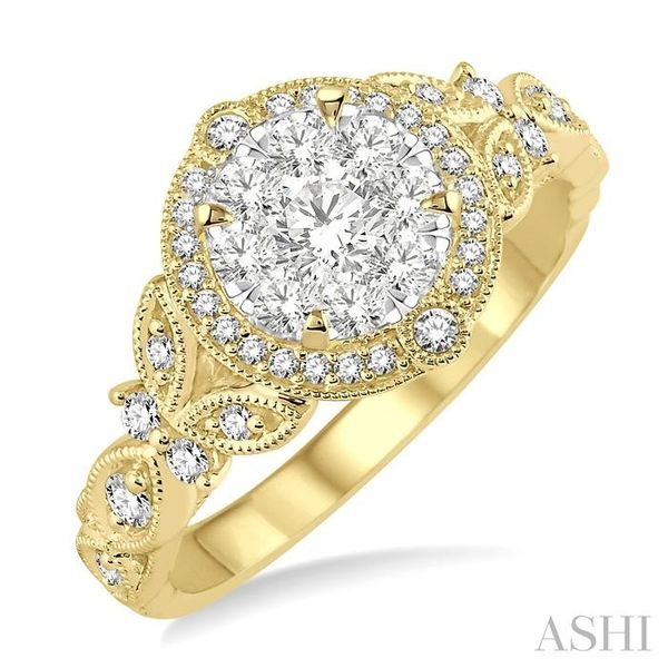 5/8 Ctw Diamond Lovebright Engagement Ring in 14K Yellow and White Gold Seita Jewelers Tarentum, PA