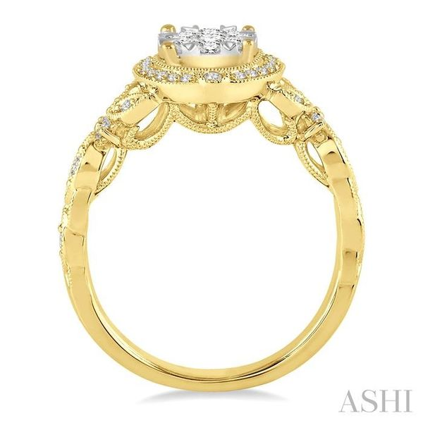 5/8 Ctw Diamond Lovebright Engagement Ring in 14K Yellow and White Gold Image 3 Seita Jewelers Tarentum, PA