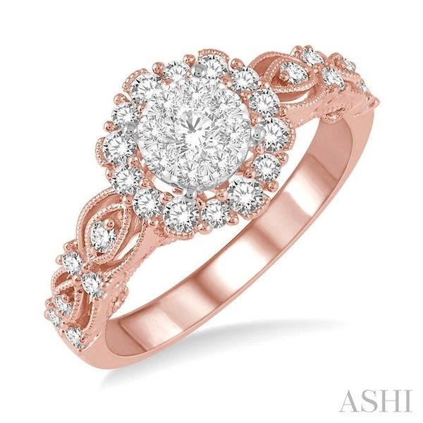 3/4 Ctw Diamond Lovebright Ring in 14K Rose and White Gold Seita Jewelers Tarentum, PA