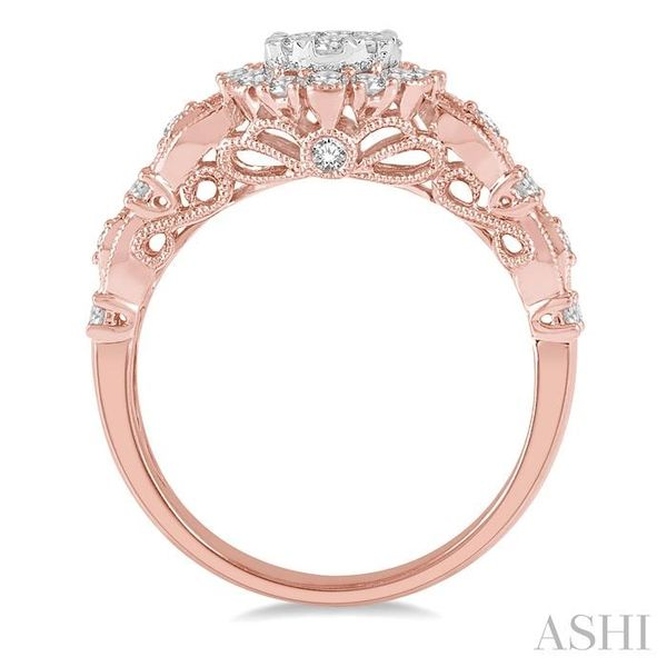3/4 Ctw Diamond Lovebright Ring in 14K Rose and White Gold Image 3 Seita Jewelers Tarentum, PA