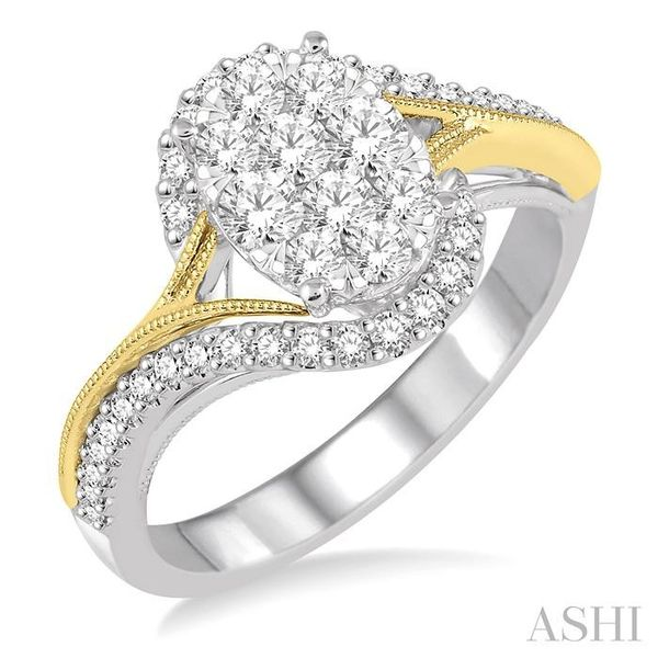 3/4 Ctw Diamond Lovebright Ring in 14K White and Yellow Gold Seita Jewelers Tarentum, PA