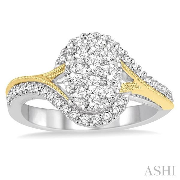 3/4 Ctw Diamond Lovebright Ring in 14K White and Yellow Gold Image 2 Seita Jewelers Tarentum, PA