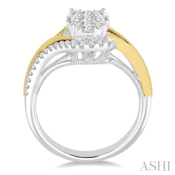 3/4 Ctw Diamond Lovebright Ring in 14K White and Yellow Gold Image 3 Seita Jewelers Tarentum, PA