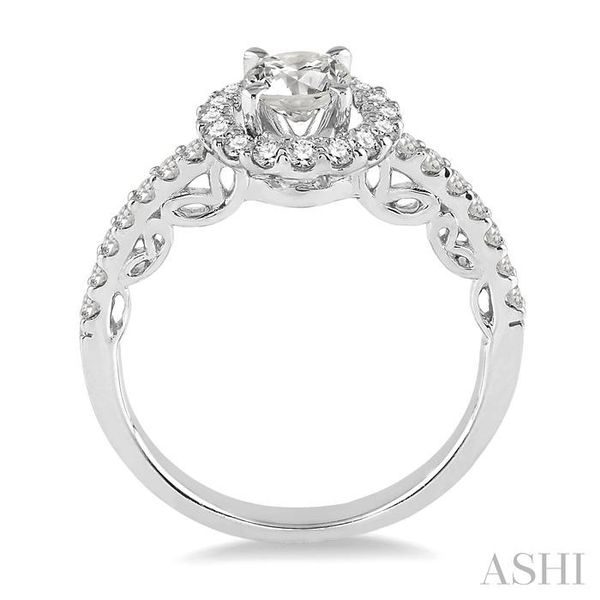 3/4 Ctw Diamond Engagement Ring with 3/8 Ct Round Cut Center Stone in 14K White Gold Image 3 Seita Jewelers Tarentum, PA