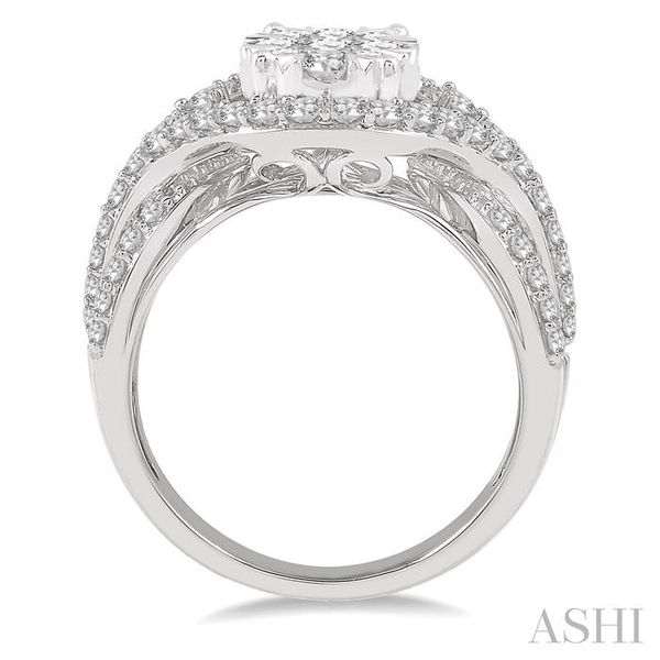 1 ctw Split Shank Oval Shape Lovebright Round Cut Diamond Ring in 14K White Gold Image 3 Seita Jewelers Tarentum, PA
